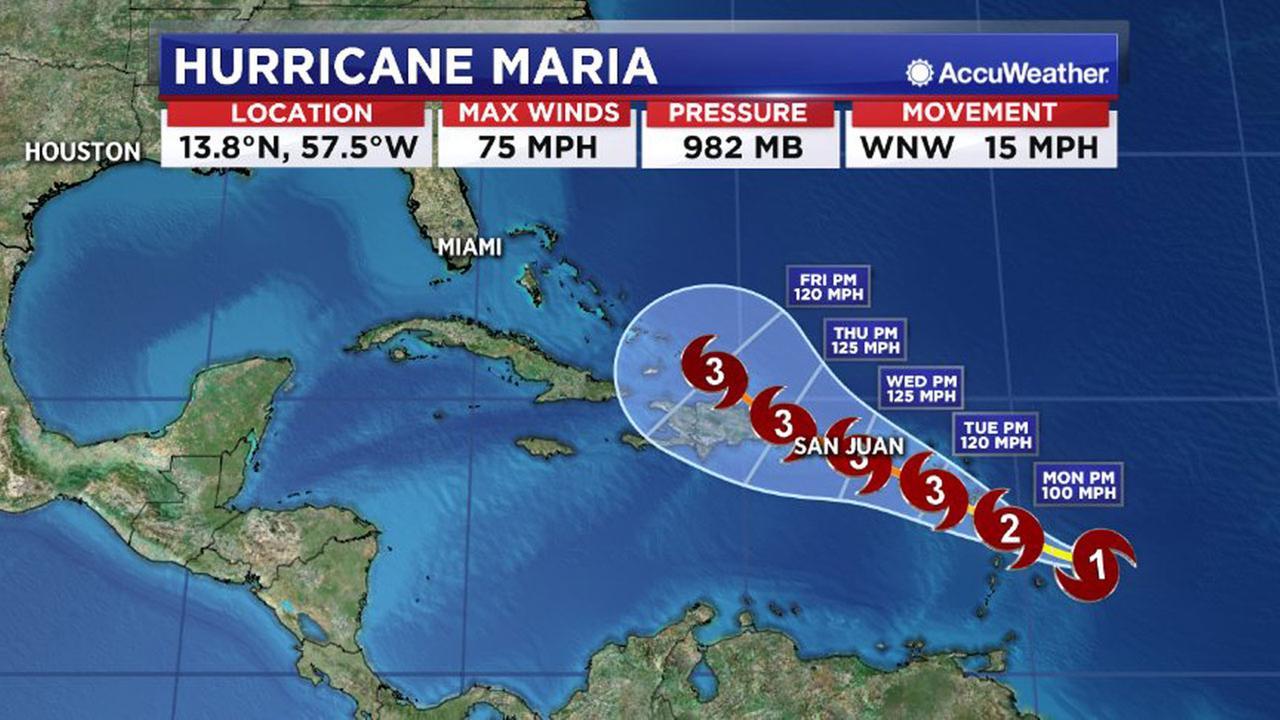 New Hurricane Maria growing threat to Irmaslammed Caribbean