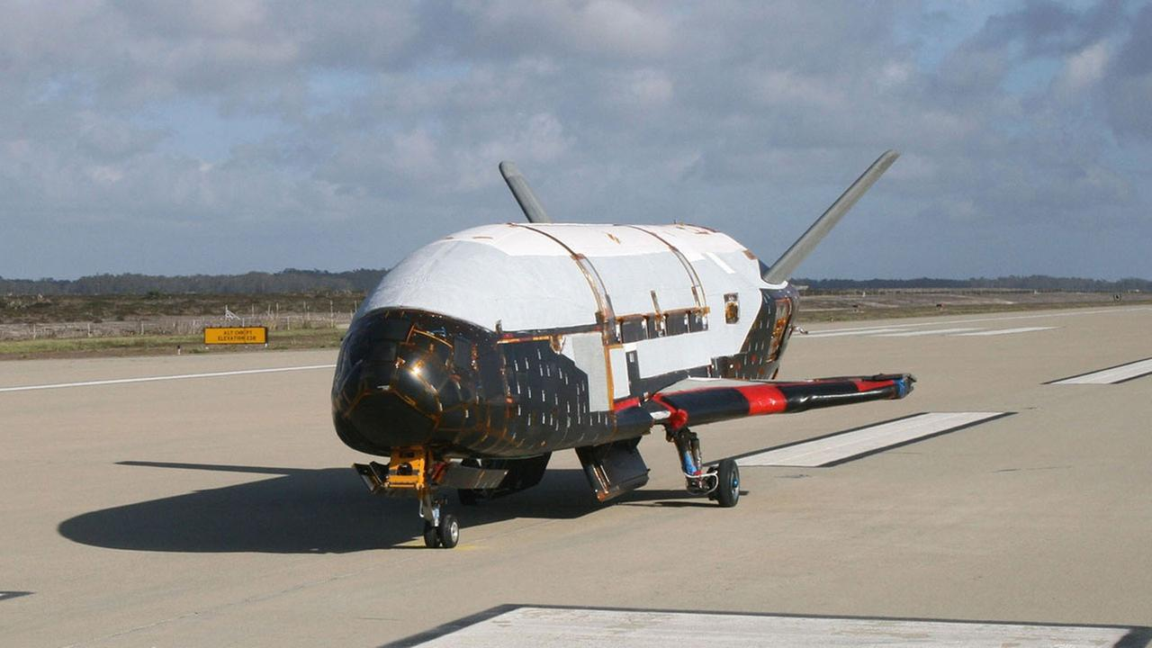 This June 2009 photo made available by the U.S. Air Force via NASA shows the X-37B Orbital Test Vehicle at Vandenberg Air Force Base, Calif.
