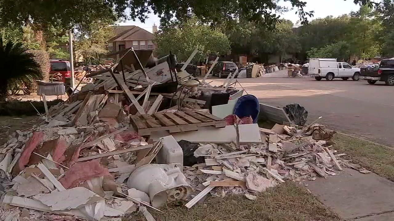 Houston Mayor Sylvester Turner offers update on debris removal in the city.
