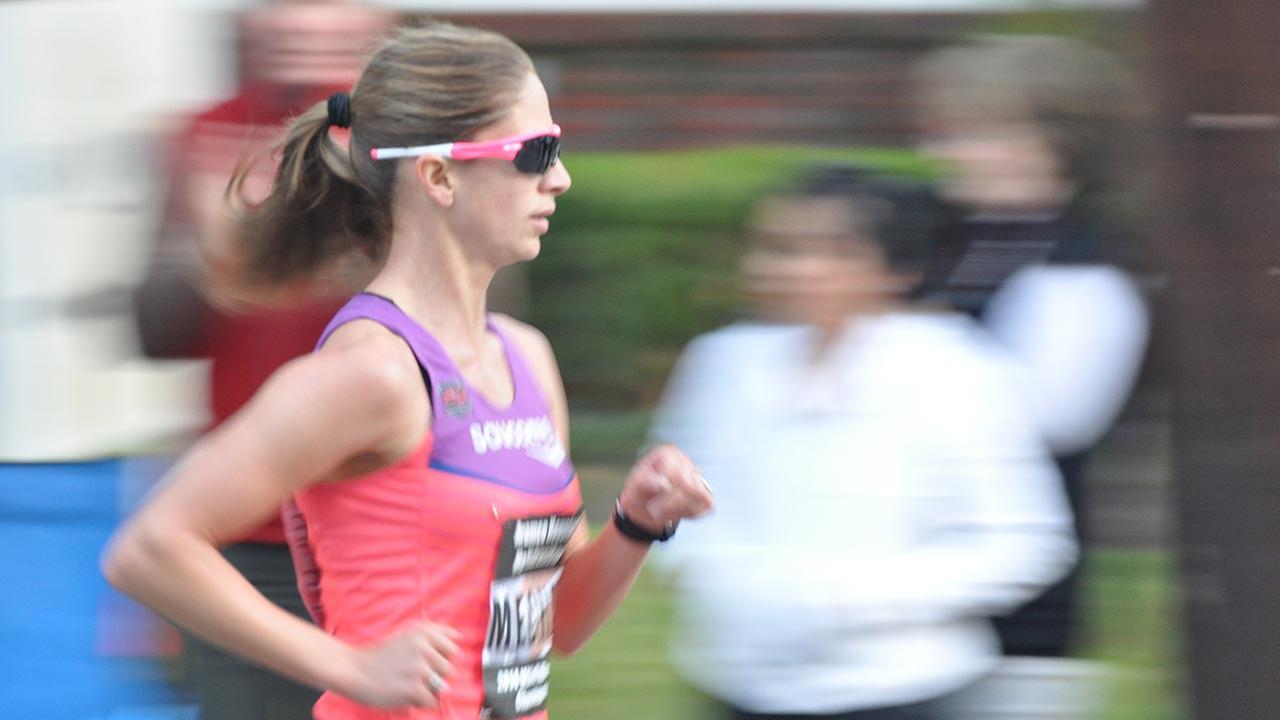 Chevron Houston Marathon runner