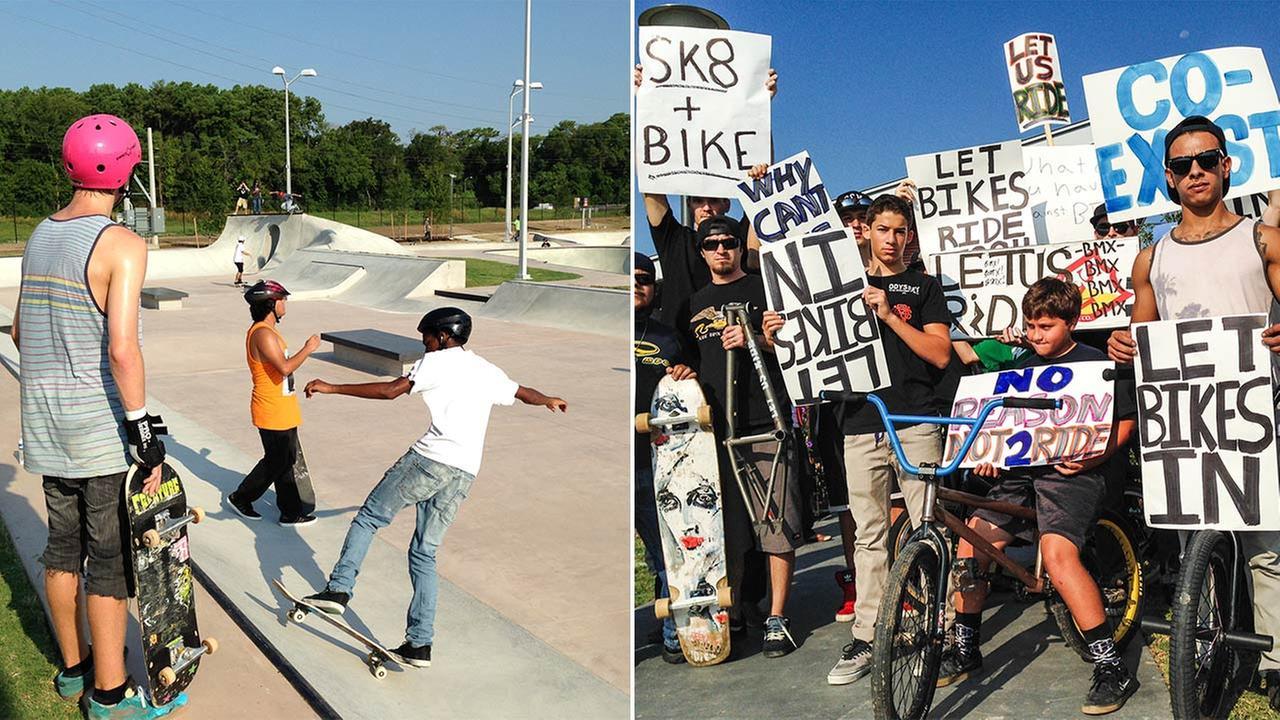 skate park bike protest