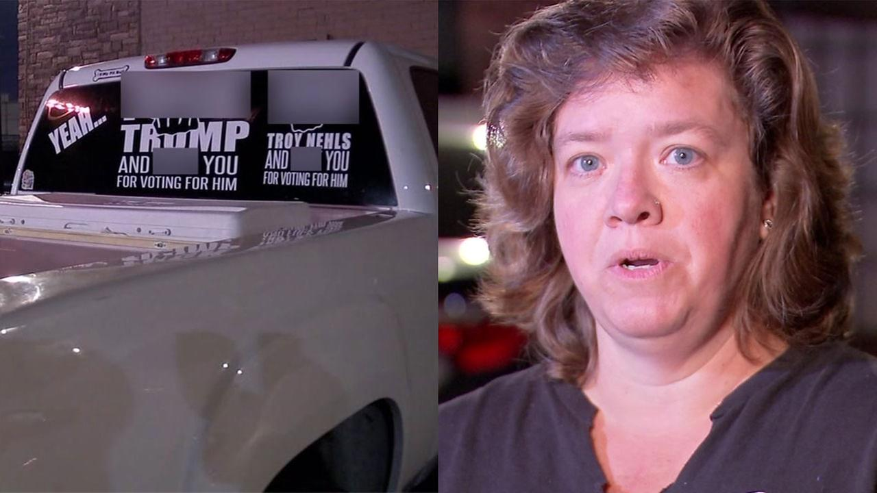 Woman threatened for 'f*ck Trump' sticker says f*ck the sheriff too