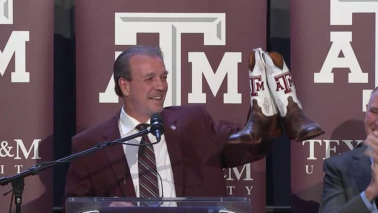 Jimbo Fisher introduced as new Texas A&M head football coach.