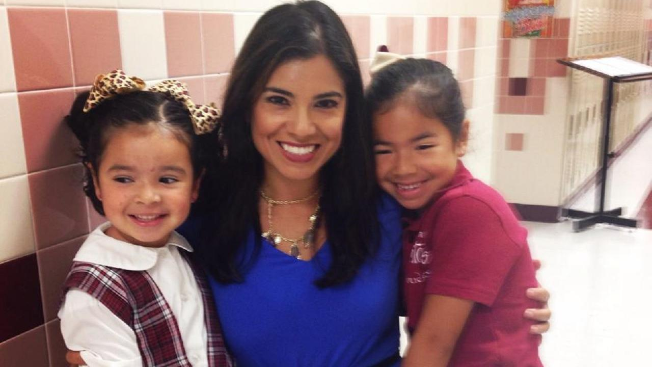 ABC-13 consumer reporter Patricia Lopez on the first day of school with her kids.