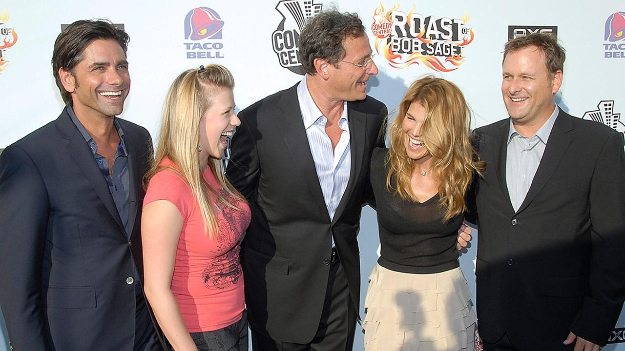 Actor John Stamos, actress Jodie Sweetin, actor Bob Saget, actress Lori Loughlin, and actor Dave Coulier