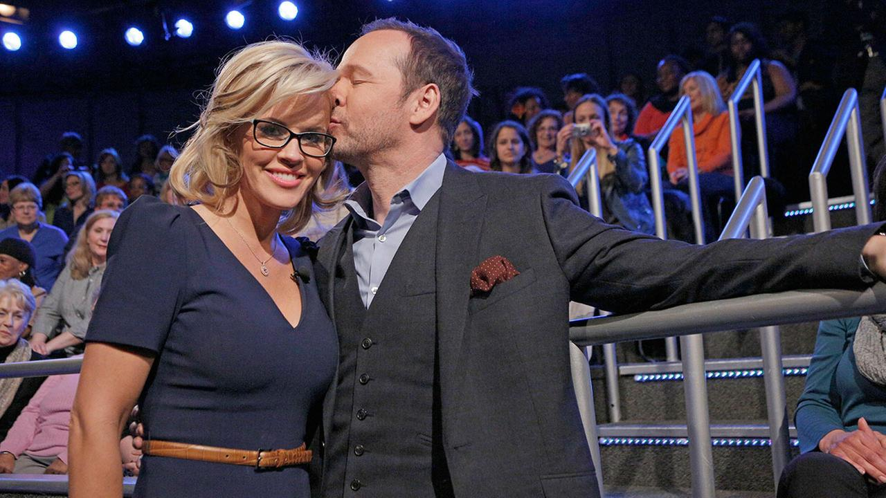 Jenny McCarthy with her fiance Donnie Wahlberg