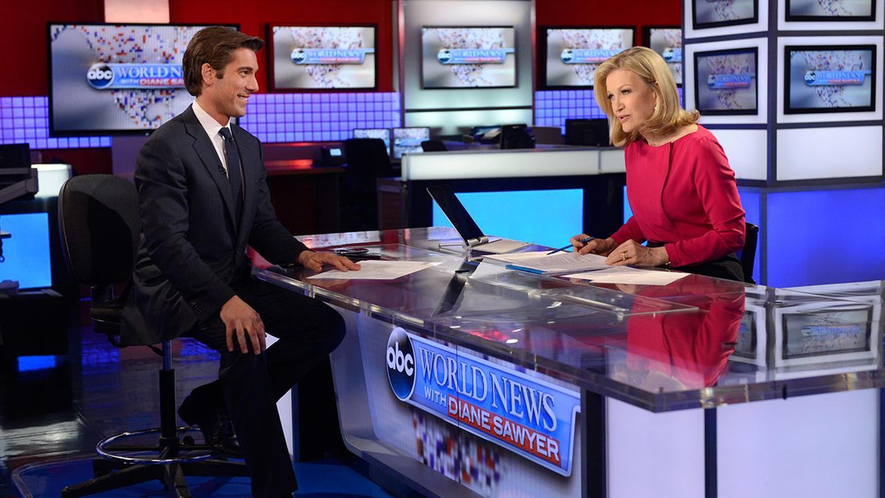Diane Sawyer and David Muir