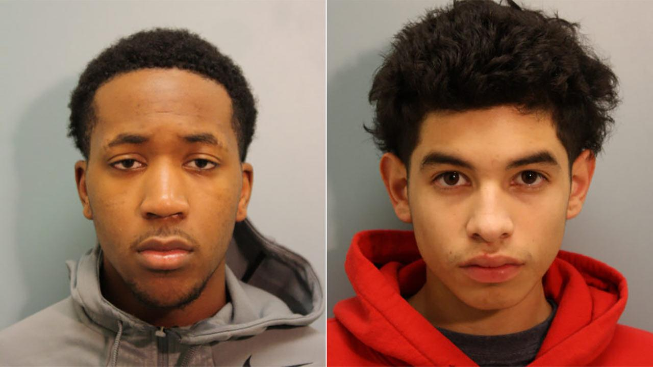 Julian Xavier Velarde, 17, (right) and Roderick Gerome Alexander, 17 (left) are charged with capital murder