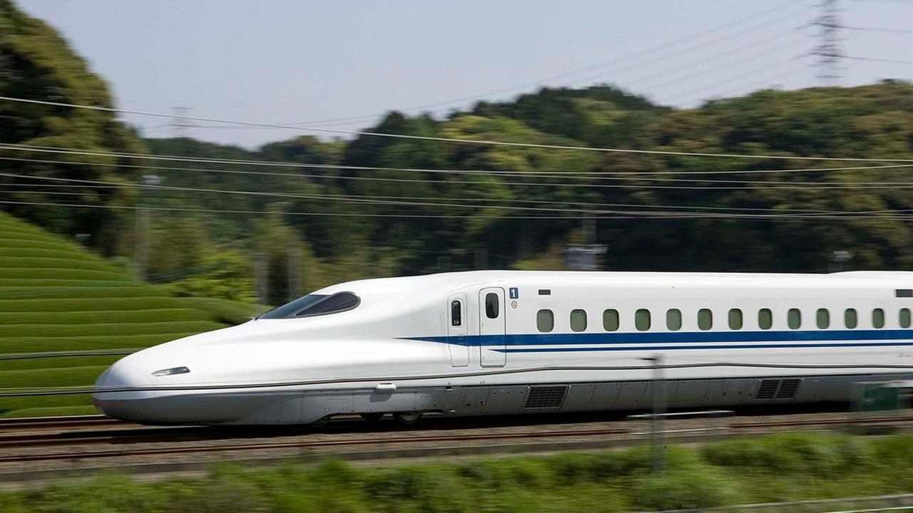 Conceptual renderings of the Texas Bullet Train, with final designs pending
