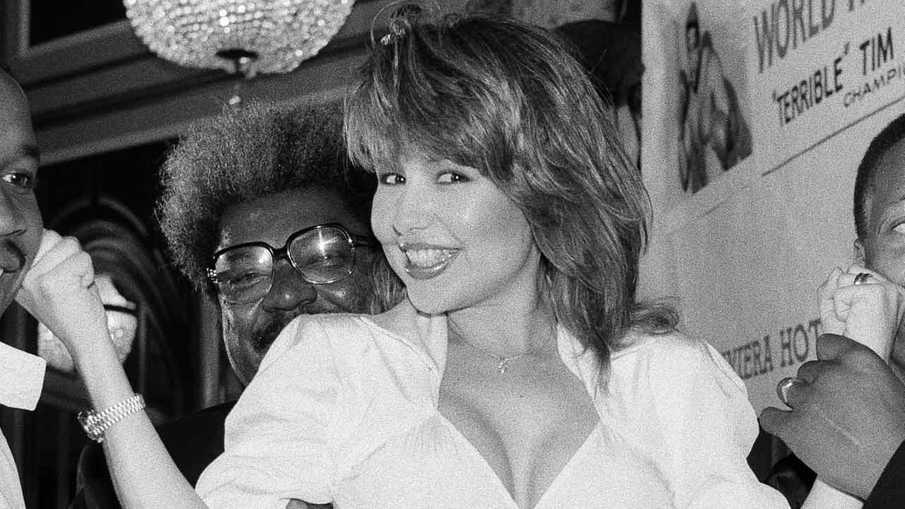 Promoter Don King and actress Pia Zadora in New York during a news conference, July 24, 1984.
