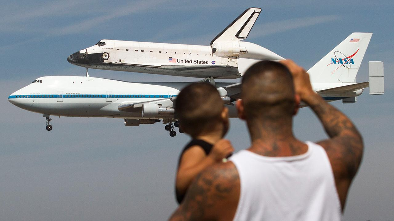 Space shuttle Endeavour atop NASAs Shuttle Carrier Aircraft