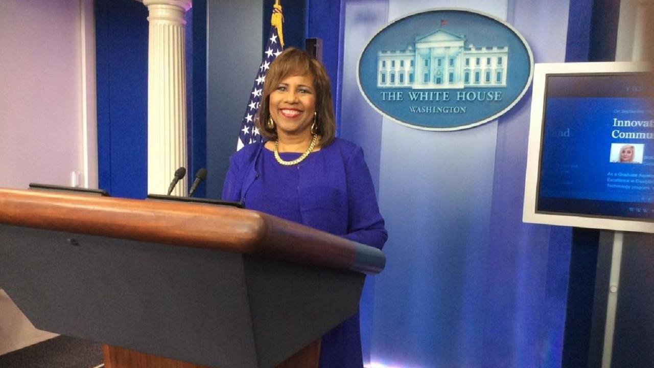 Melanie Lawson at the White House