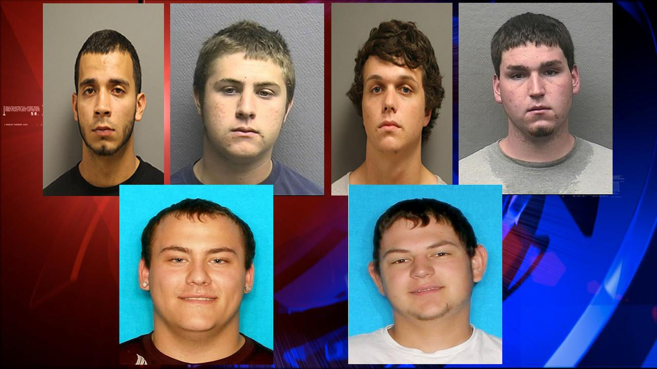 From left: Alegandro Garza, Matthew Post, Austin Krolczyk, Hunter Evans, Michael Hughes, and Logan Horak