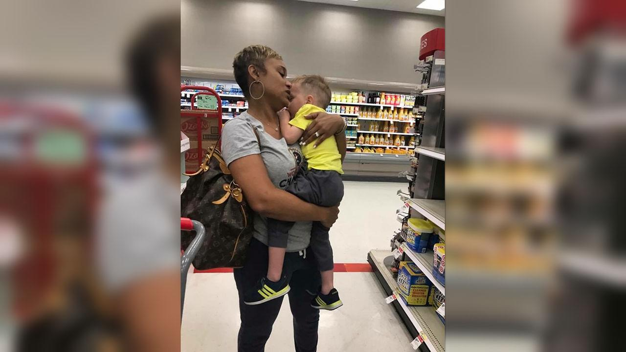 Woman thanked for comforting stranger's toddler at Target