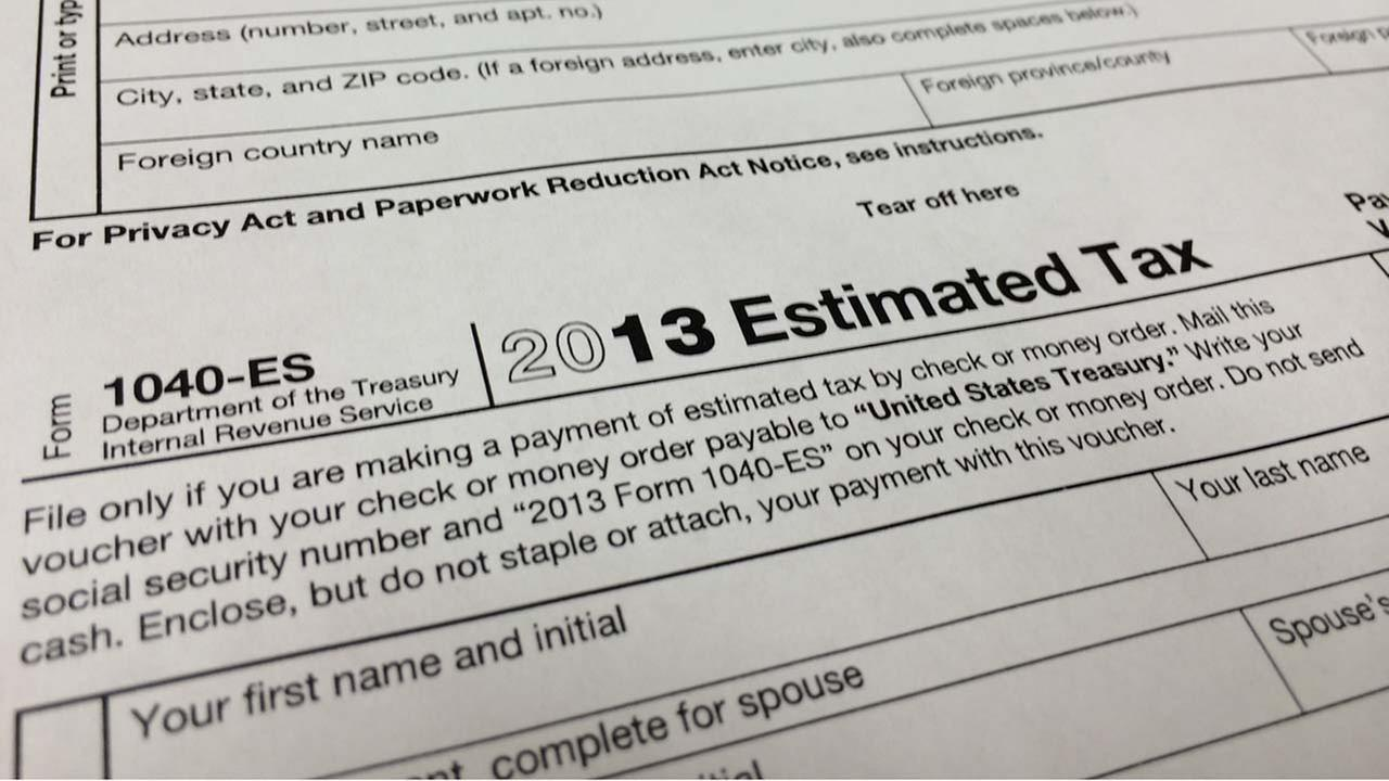 A 2013 1040-ES IRS Estimated Tax form