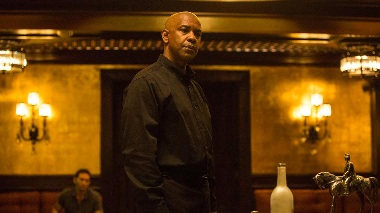 Denzel Washington appears in a scene from the film, The Equalizer.