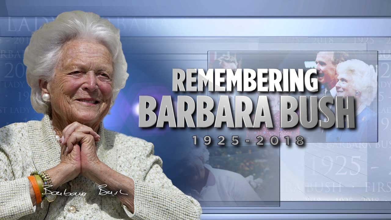 Barbara Bush remembered, celebrated in Houston