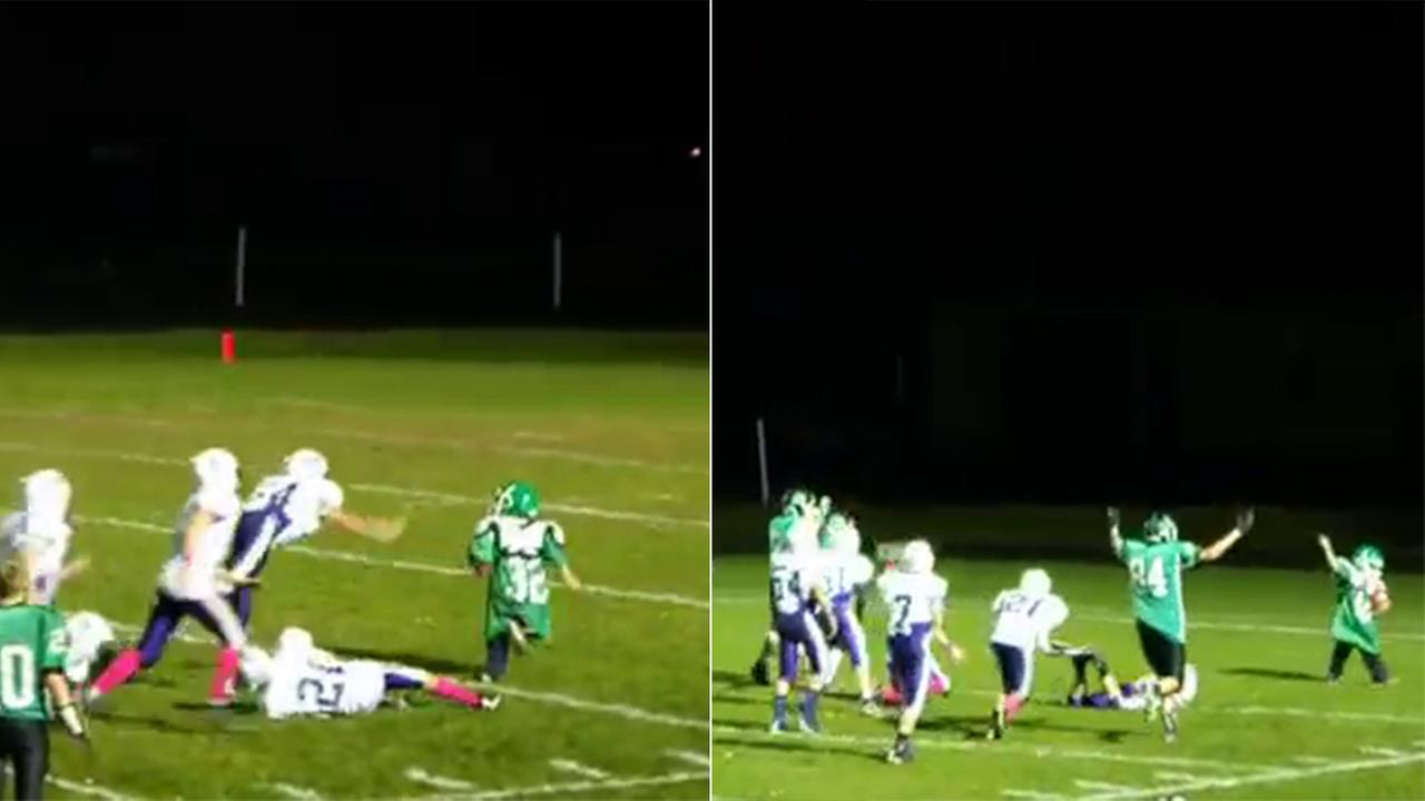 boy scores touchdown