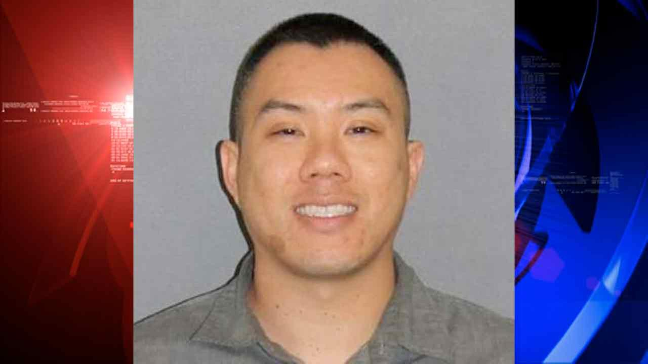 Sherwin Ngo, 34, is shown in a booking photo from the Irvine Police Department. (KABC / Irvine Police Department)