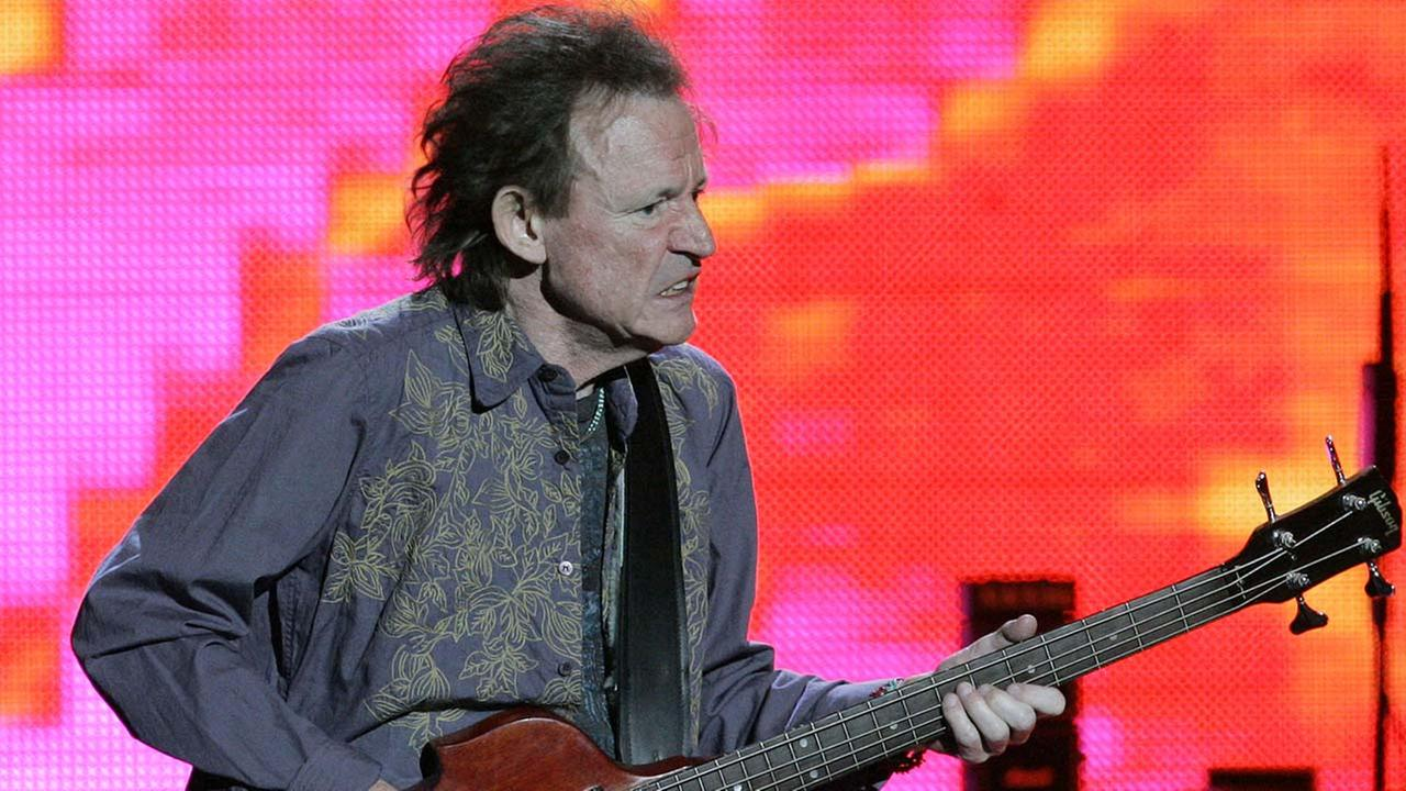 Bassist Jack Bruce performs in a reunion of Cream, Monday, Oct. 24, 2005, at Madison Square Garden in New York