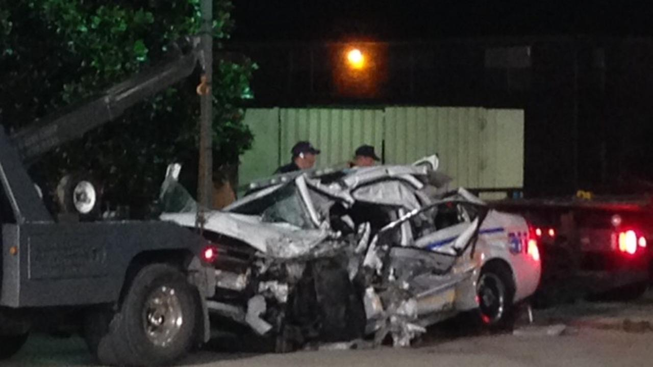A Harris County sheriffs deputy was killed when a vehicle swerved into his lane and struck his patrol car head-on.