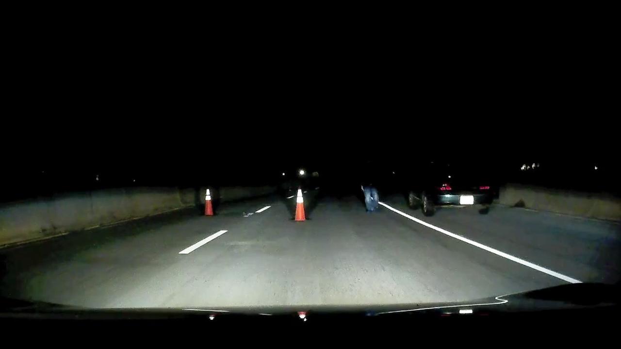 creepy road block