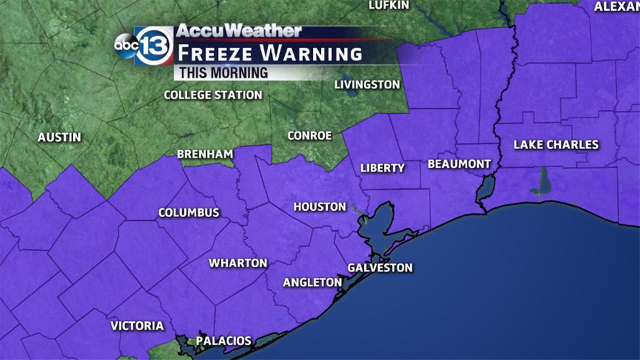 freeze warning locations