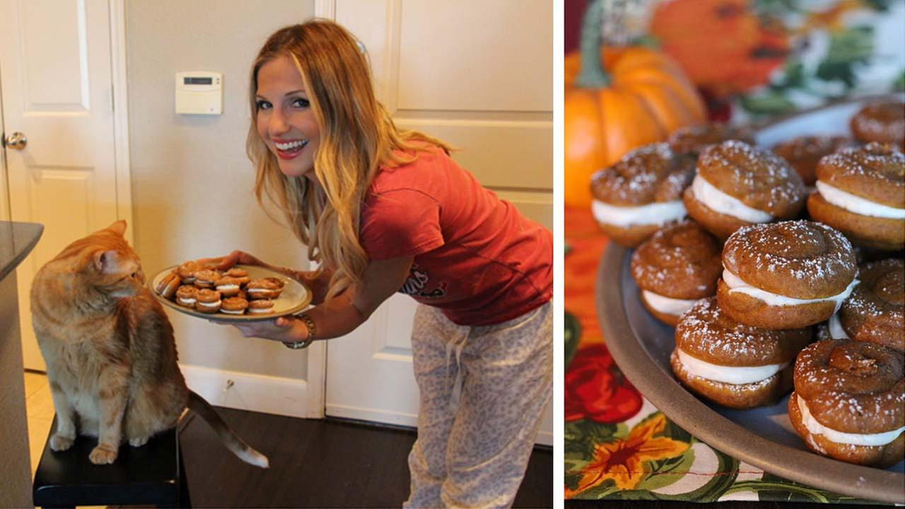 Katherine Whaleys Mini Pumpkin Whoopie Pies