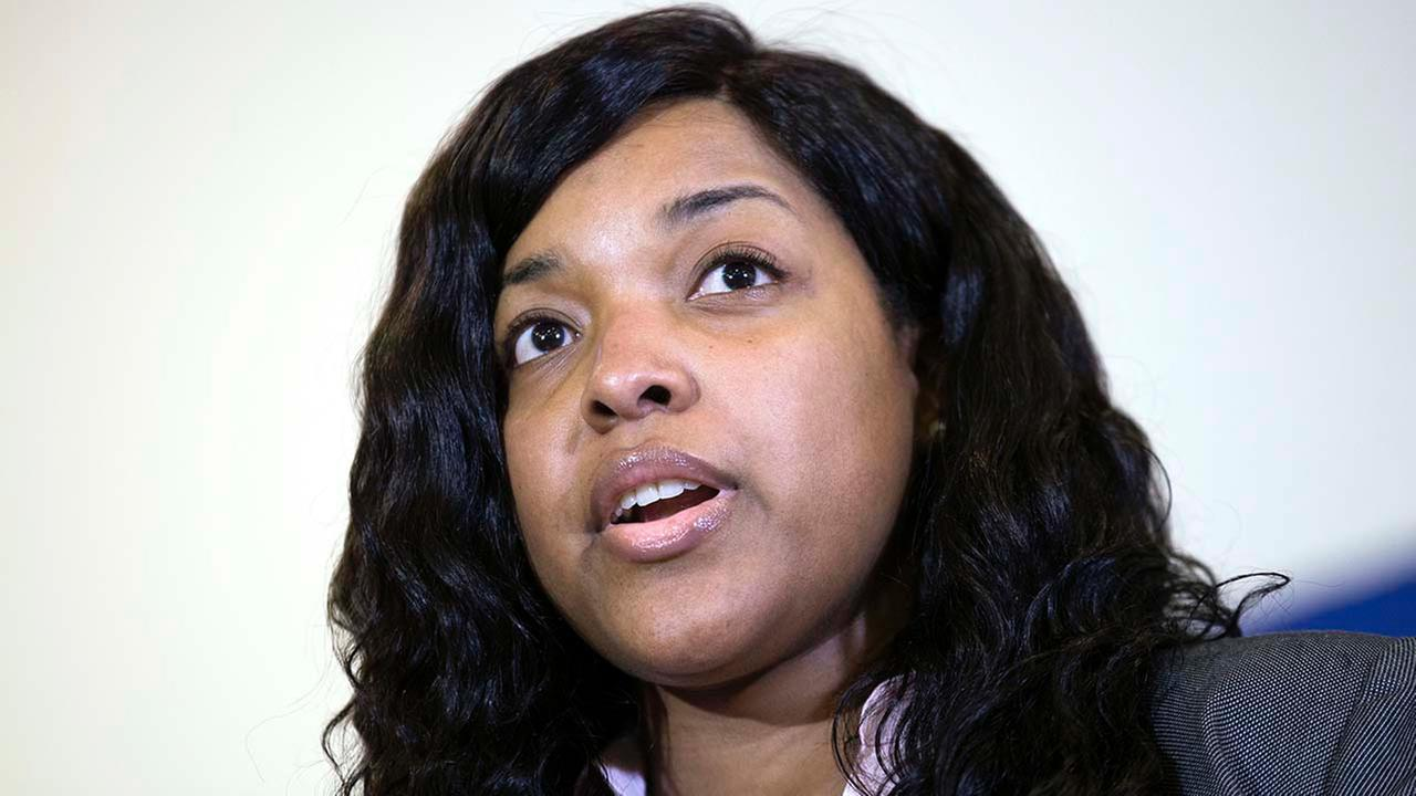 Amber Vinson, 29, the Dallas nurse who was being treated for Ebola, speaks at a news conference after being discharged from Emory University Hospital in Atlanta