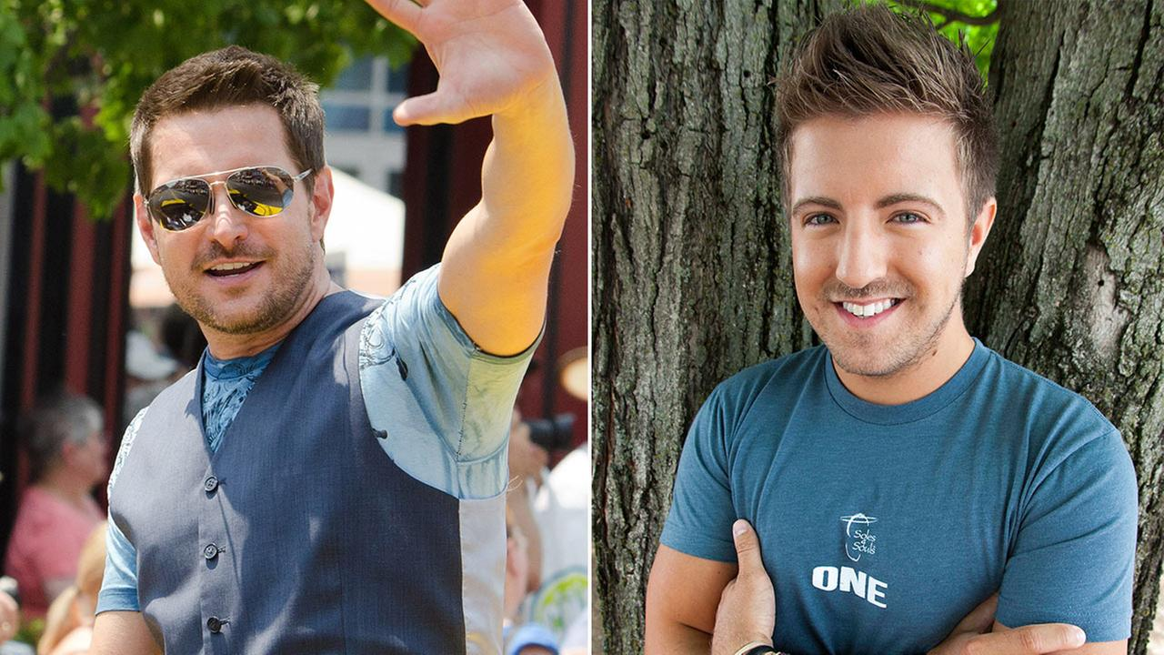 Ty Herndon, left, Billy Gilman, right