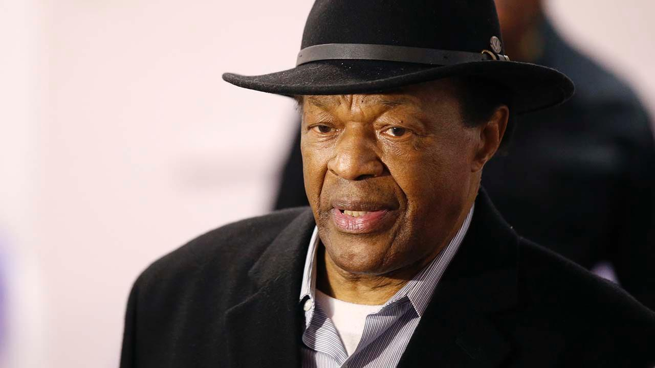 Former Mayor Marion Barry arrives at a media availability to endorse Mayor Vincent Grays bid for re-election, in this, March 19, 2014 file photo