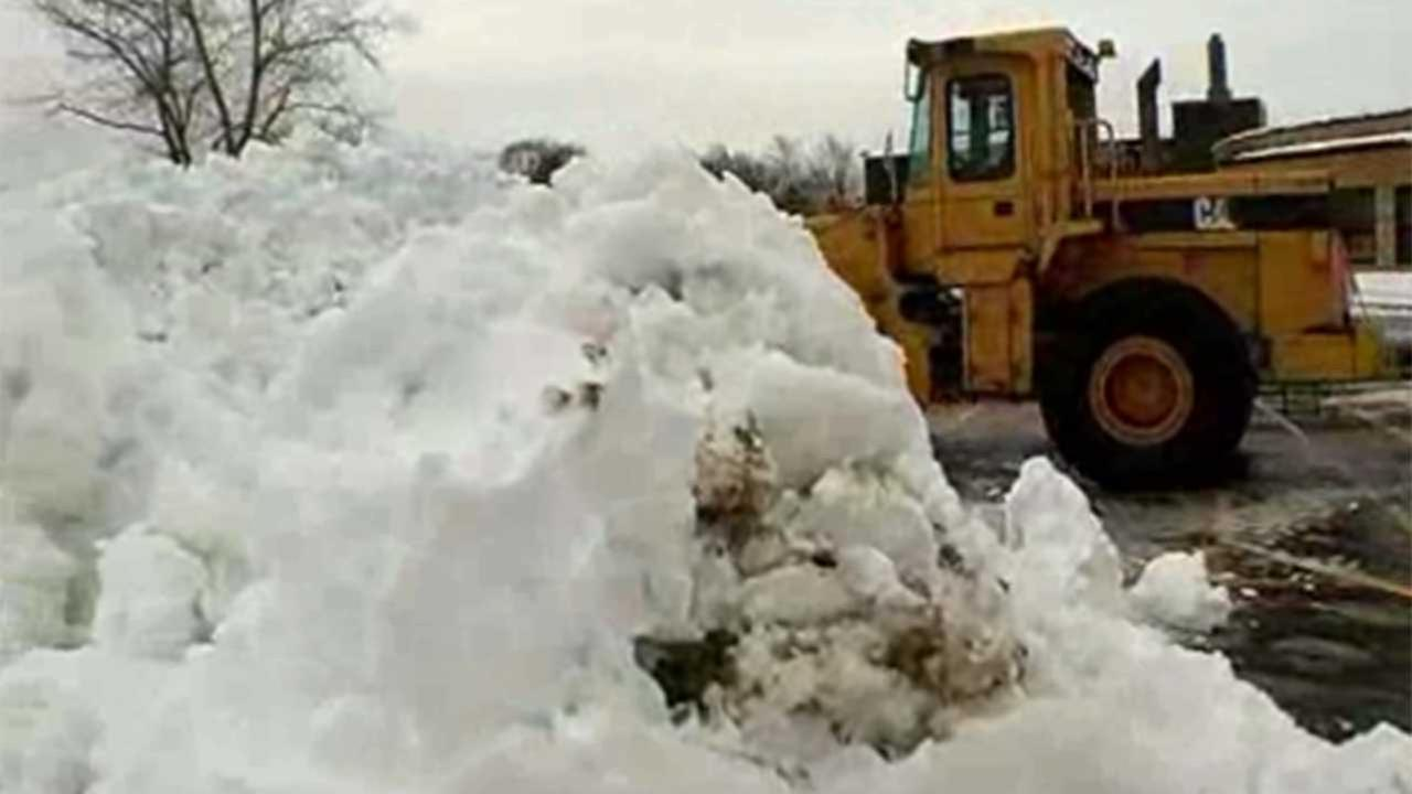 Crews are still working to remove snow from last weeks storm.