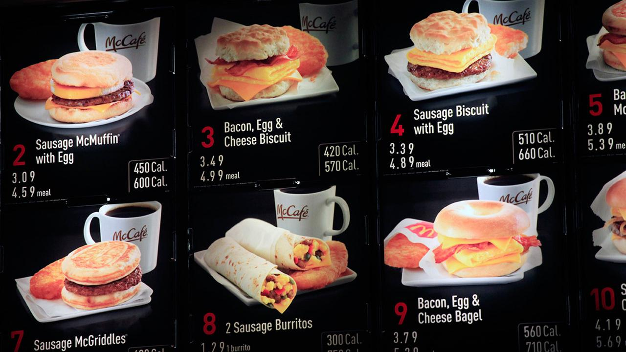 Calories on McDonalds menu