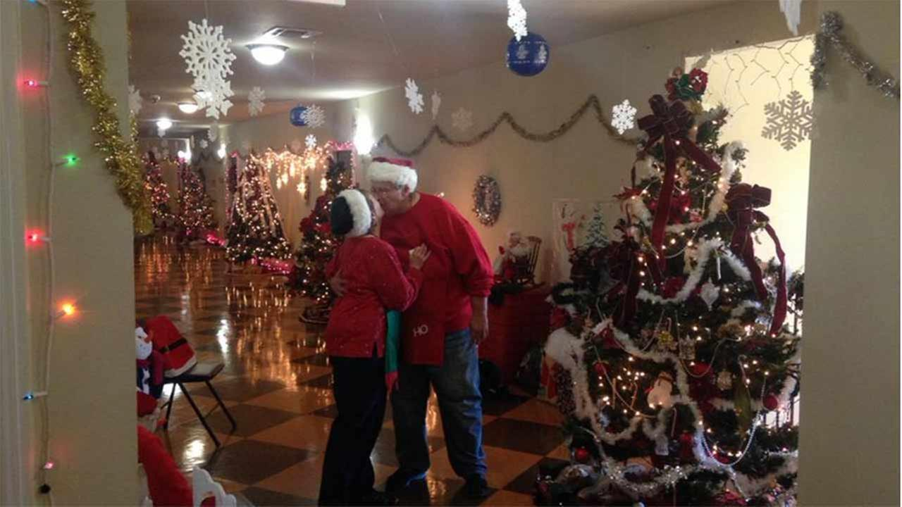 Meet the Mr. And Mrs. Claus of the West Oaks Village Seniors.  Theyve created their own North Pole!