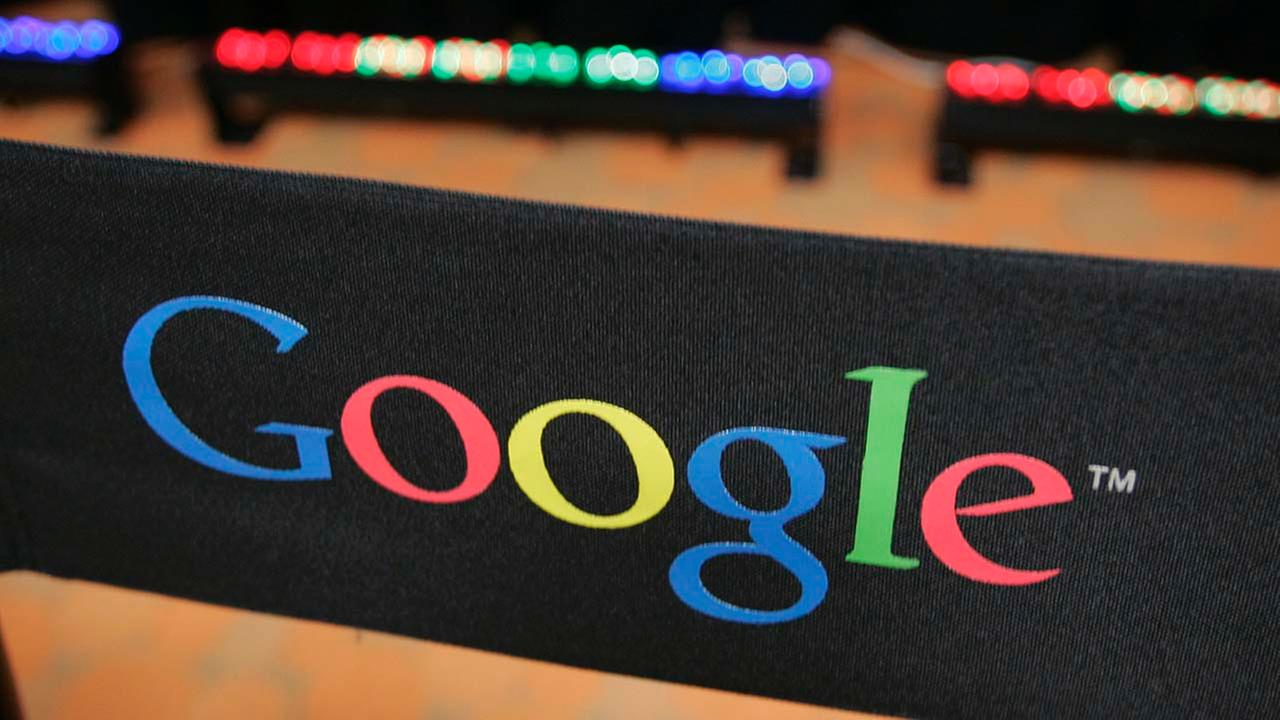 This Sept. 2, 2008 file photo shows the Google logo on a chair at the companys headquarters in in Mountain View, Calif. Google Inc.