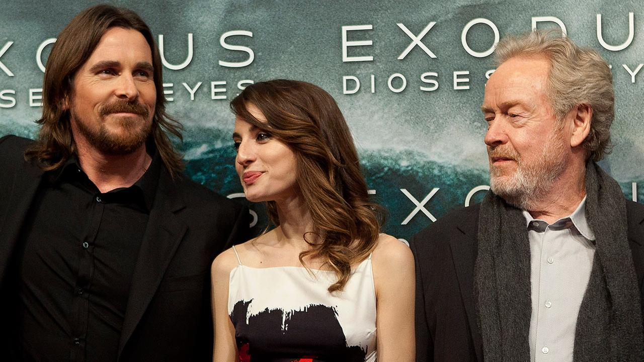 Christian Bale, Maria Valverde and Ridley Scott