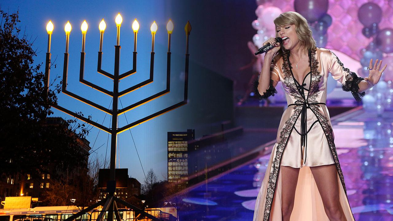 Taylor Swift and a Menorah
