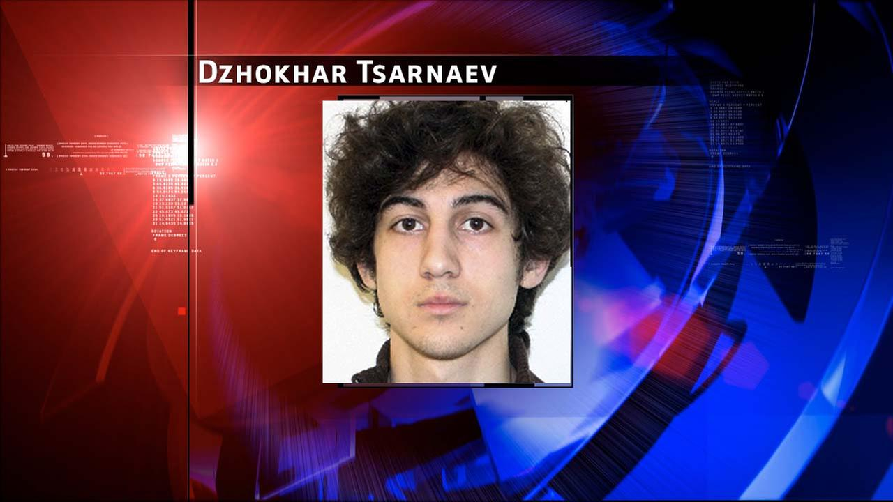 Boston Marathon bombing suspect Dzhokhar Tsarnaev, charged with carrying out the April 2013 attack that killed three people and injured more than 260