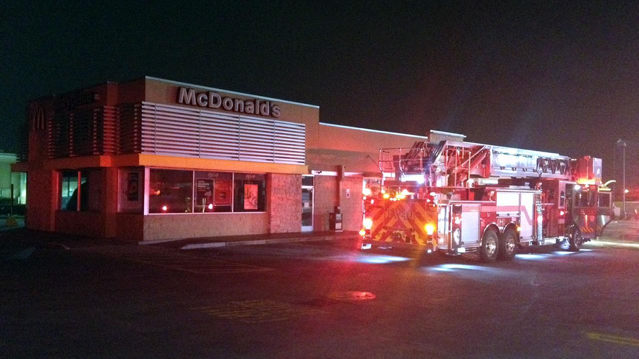 Fire scene at mcdonalds