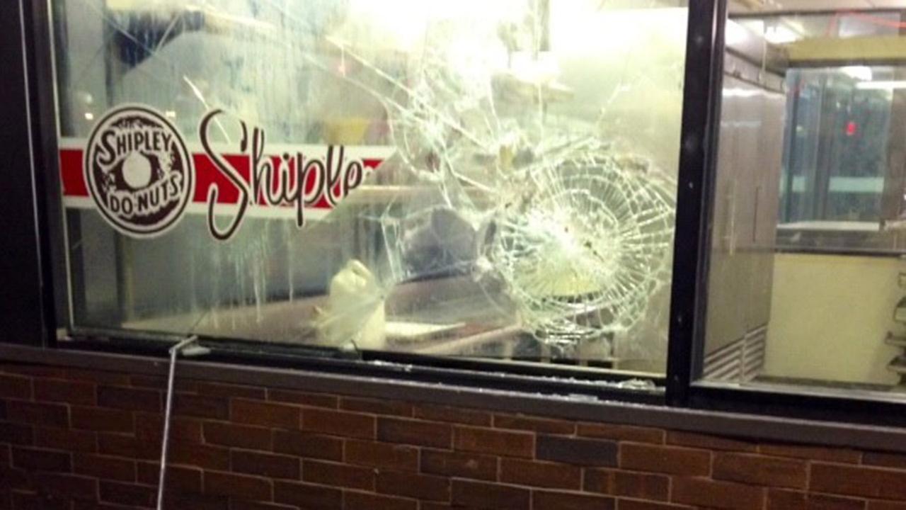 Donut shop damage