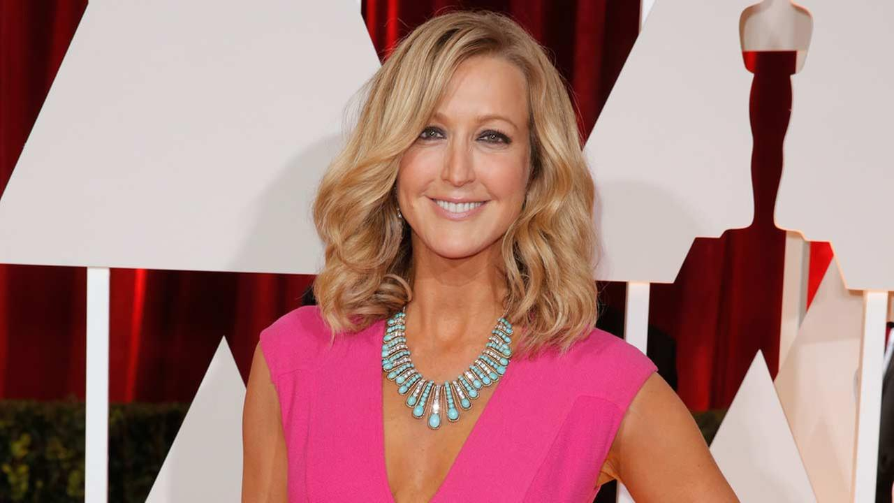 Lara Spencer arrives at the Oscars on Sunday, Feb. 22, 2015, at the Dolby Theatre in Los Angeles.