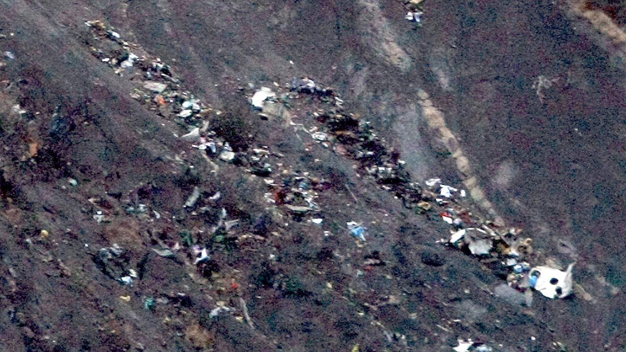 Debris of the Germanwings passenger jet