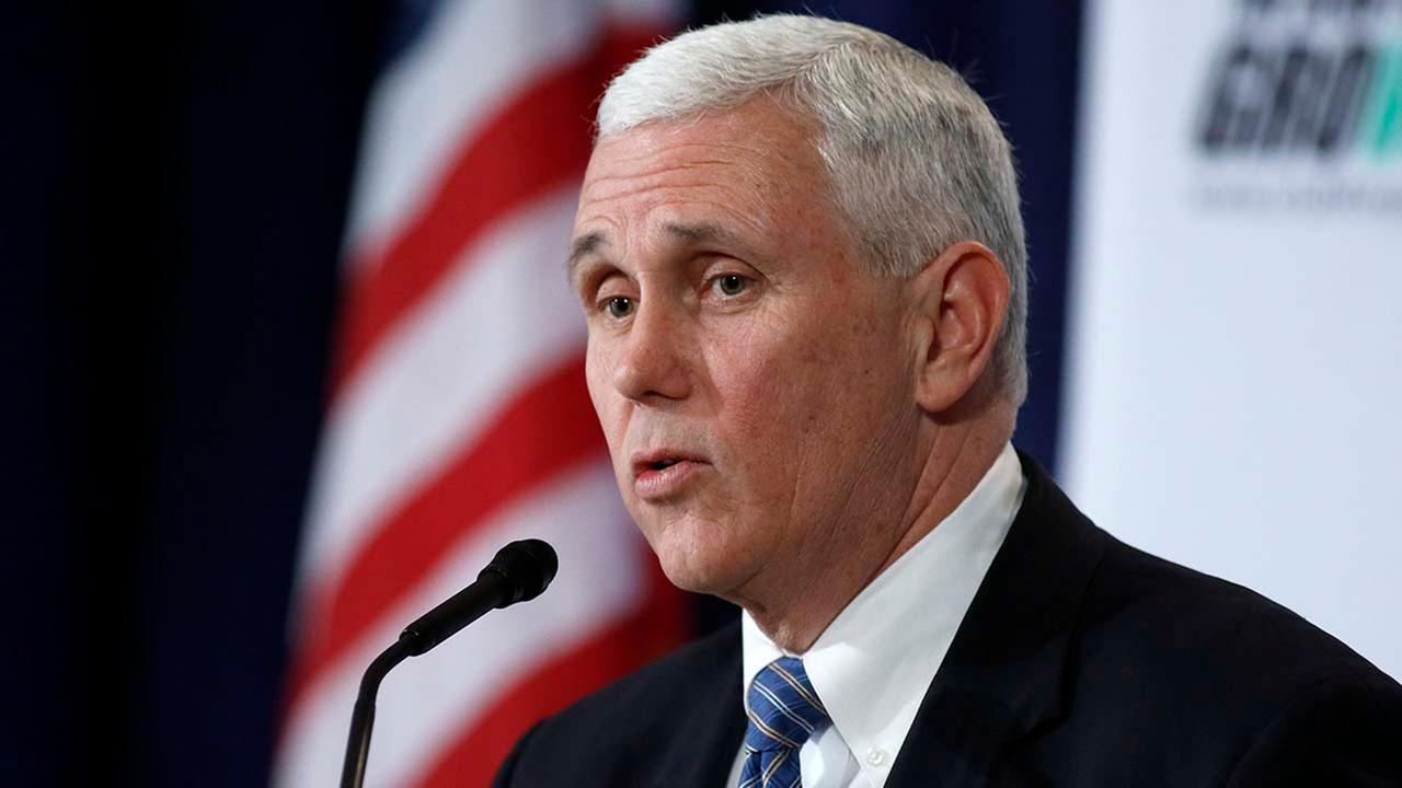 Indiana Gov. Mike Pence speaks at the winter meeting of the free market Club for Growth