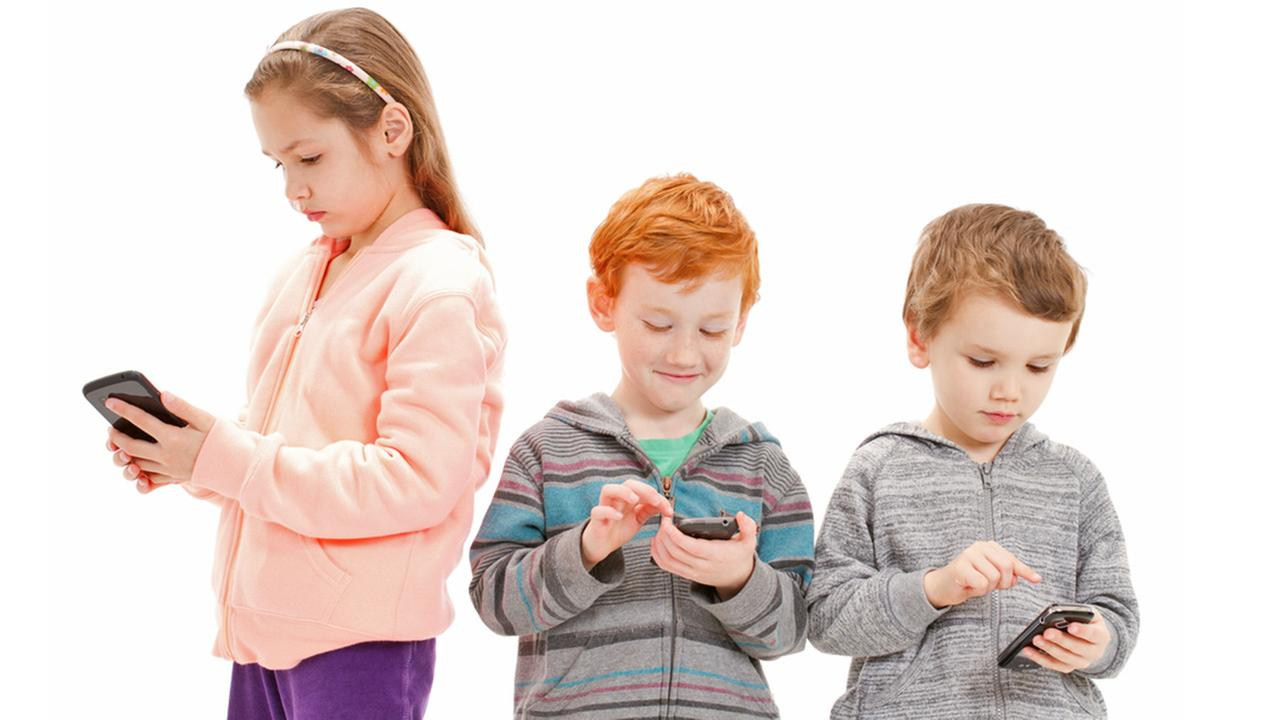 Image result for CHILDREN WITH CELL PHONES