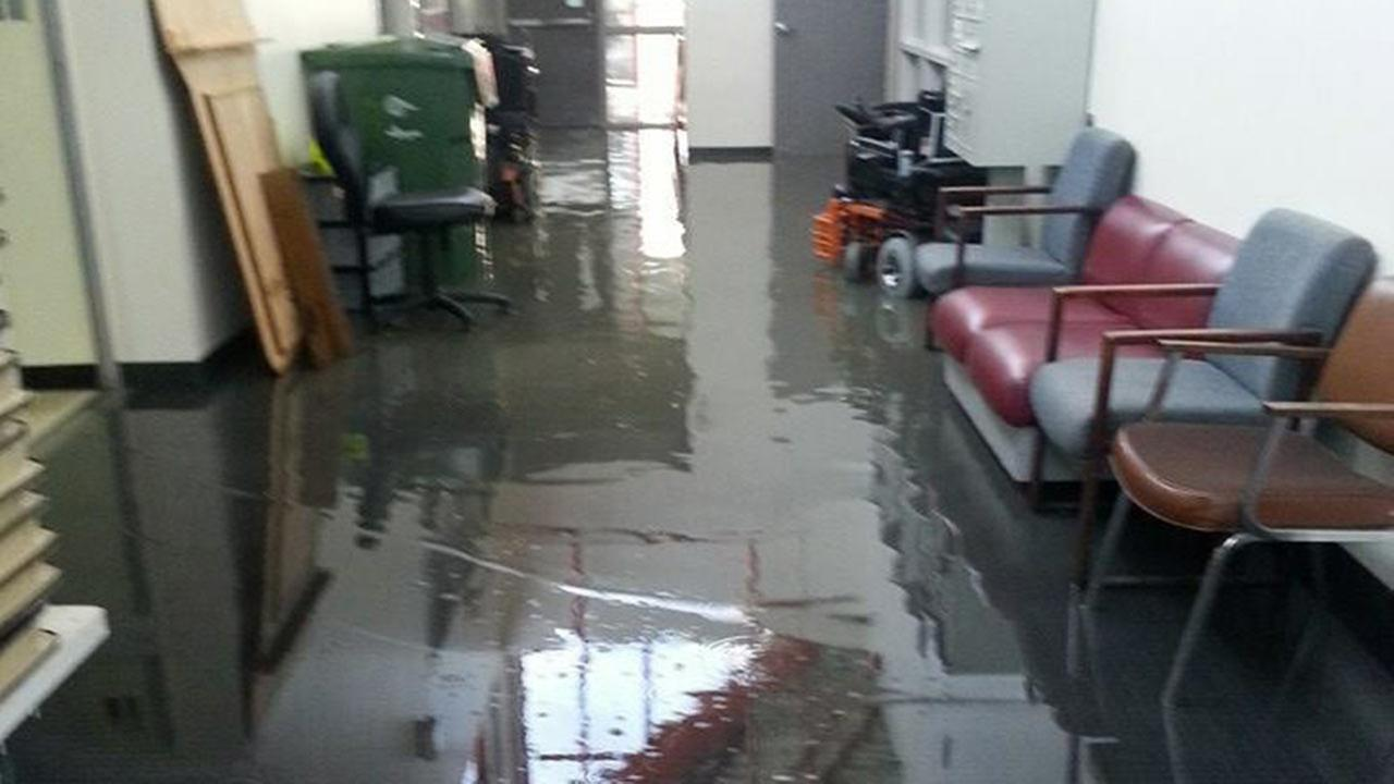 A water main break has forced a Multi-Service Center to shutdown.