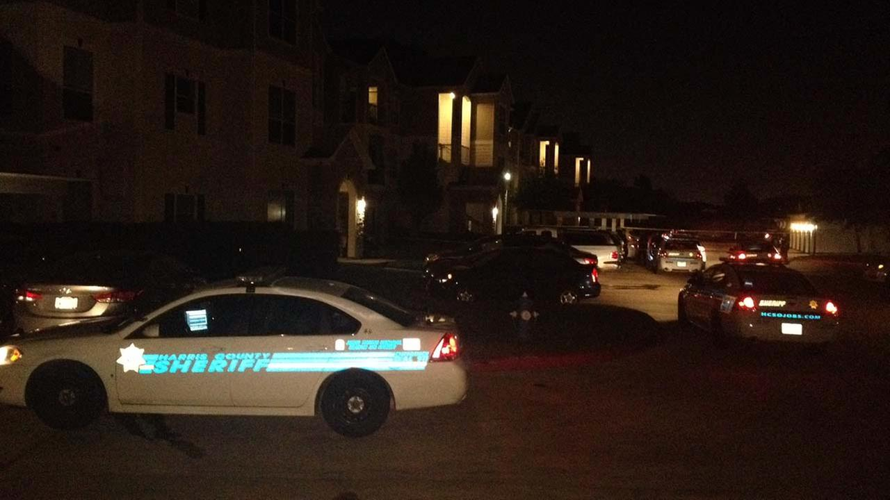 The scene of a deadly home invasion in west Harris County