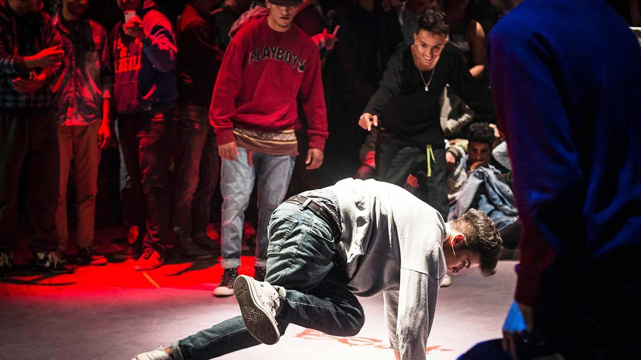 In this photo taken Jan.10, 2015, a break dancer performs in Sousse, Tunisia.
