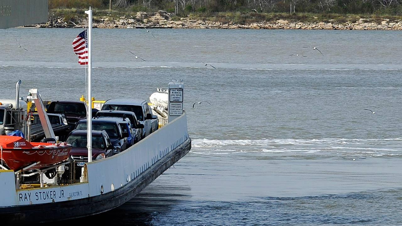 One of Galvestons Bolivar Ferry boats