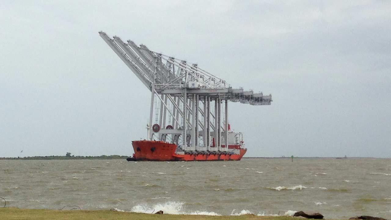 These massive cranes near the Port of Houston.