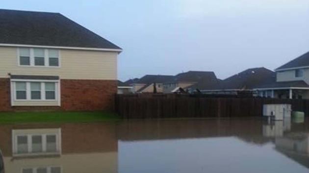 Flooding homes damage